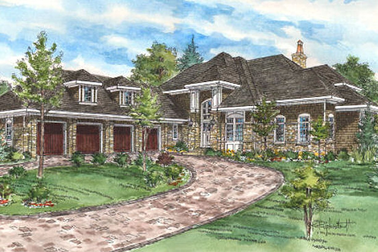Credit River two-story home rendering by RDS Architects