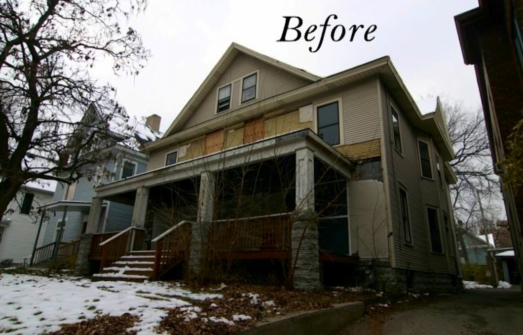 before photo of Minneapolis Apartment Remodel by Rick Storlien of RDS Architects